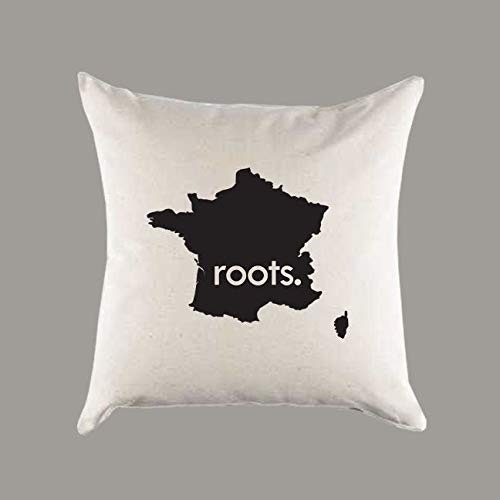 Sp567encer Frankreich Wurzeln Leinwand Kissenbezug Home Decor Einweihungsparty Geschenk Ancestery Homeland Pride
