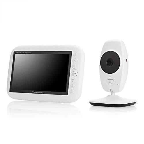 FMOGE Monitor para bebés con cámara Pantalla de visión Nocturna HD TFT LCD de 7 Pulgadas Micrófono y Altavoz Integrados Imagen Intercambiable Video,Cámaras de vigilancia en Domo