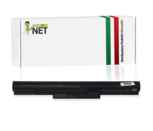 New Net Batteria Compatibile con Notebook Sony Vaio SVF152A27T SVF152A29M SVF152C29l SVF152C29M SVF153100C SVF15314SCW SVF15316SC SVF15316SCB SVF15316SCP SVF15316SCW SVF15317SCW [2600mAh]