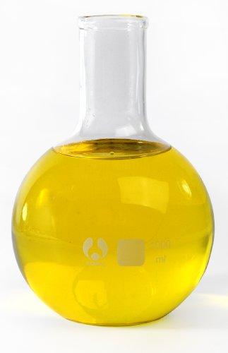 American Educational 7-771000 Clear Borosilicate Glass 1000mL Flat Bomex Bottom Boiling Flask