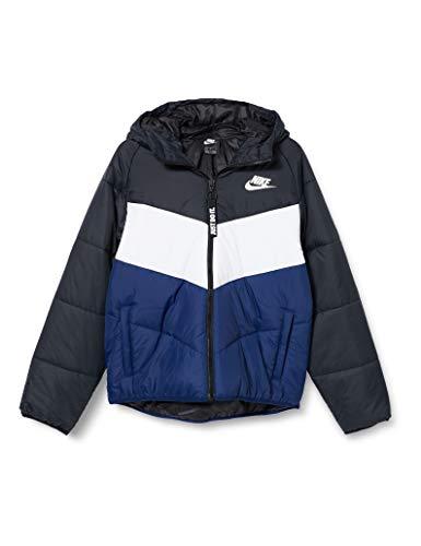 Nike Damen W NSW Wr Syn Fill JKT Hd Weste, Black/White/Blue Void/White, 17-22 Lang