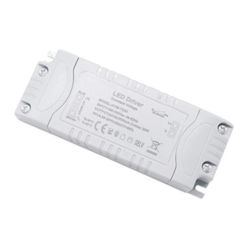 VARICART IP44 24V 0.83A 20W TRIAC Dimmbar LED Treiber, Universal Reguliertes AC DC Schaltnetzteil, Konstanter Spannungswandler Adapter für LED-Streifen G4 MR11 MR16 GU5.3 Glühbirne (1-er Packung)