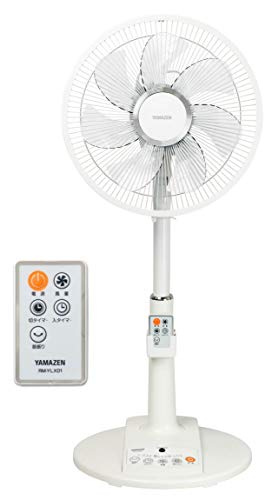 山善 DCモーター搭載 30cmリビング扇風機 (静音モード搭載)(リモコン)(風量4段階) 入切タイマー付 ホワイト...