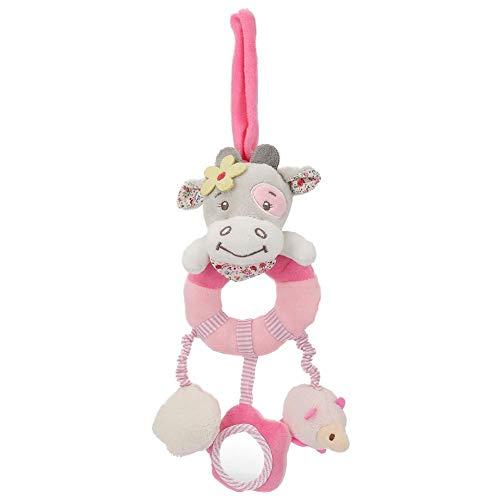 Wosune Juguete de Peluche, Exclusivo, Suave, Duradero, 2 Colores, Opcional, Cochecito, Juguete para Colgar, para desarrollar la visión del bebé(Pink Cow)