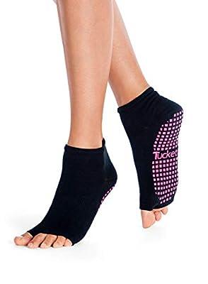 Tucketts Womens Yoga Socks, Toeless Non Slip Skid Grippy Low Cut Socks for Yoga, Pilates, Barre, Studio, Bikram, Ballet, Dance - Anklet Style