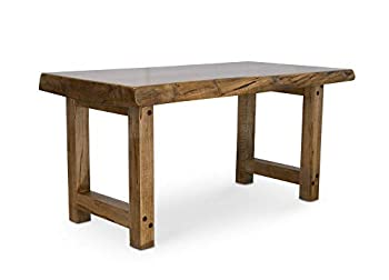 Live Edge Ambrosia Maple Slab Coffee Table - Legs and Tabletop are from Same Slab! No Hairpin Legs! A Rarity on Amazon!