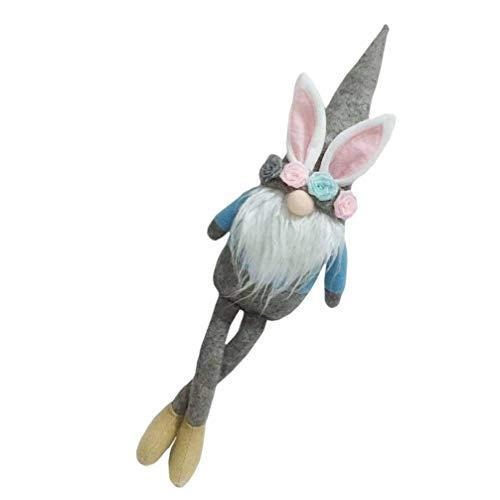 Toyvian Frühling Wichtel Figuren Kaninchen Osterhasen Figuren Tomte GNOME Plüsch Zwerg Spielzeug Hase Plüschtier Ostern Dekofigur für Skandinavische Deko Tischdeko Kinder Geschenke