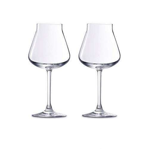 SFF Copas de Vino Copas de Vino Tinto Copas de Vino Conjunto de 2 Partidos Beber Cristalería Claro Ublet Lavavajillas Caja Fuerte Cristal (Color : Clear)