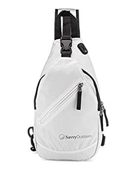 Savvy Outdoors Sling Backpack for Women - Small Crossbody Bags with One Strap Perfect for Hiking Walking Traveling - Small Outdoor Over the Shoulder Travel Accessories Perfect Women s Gift - White