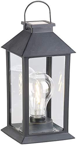 Lunartec IP65, Lámpara de Mesa: Linterna Solar con Bombilla LED, Sensor crepuscular y batería, 5 LM, IP44 (Mini Linterna Solar)