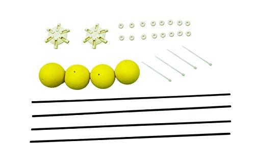 Universal Übungslandegestell (Gelb) für verschiedene RC Helikopter etc. ab ca. 40 cm / Gesamtdurchmesser: ca. 67 cm - Kugeldurchmesser: ca. 4 cm - Material: Fiberglass und Schaumstoff