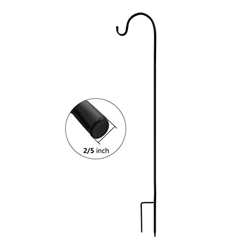 ExcMark Shepherd Hook 32 inch Use at Weddings, Hanging Solar Lights, Lanterns, Bird Feeders, Metal Hanger Hook