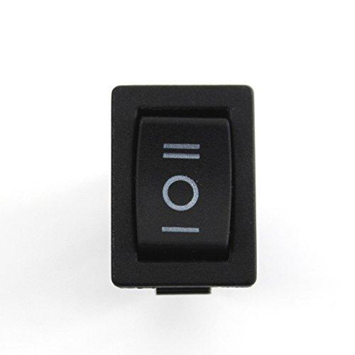5x Interruptor Basculante 12V 24V 230V Redondo rectangular coche un de interruptor basculante pequeño Snap-in