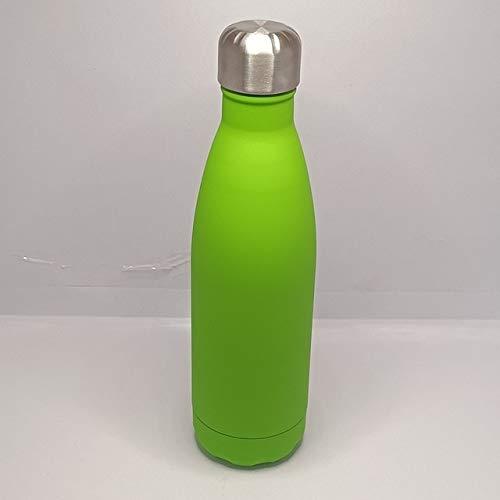 Termo de Acero Inoxidable 304 de Doble Pared de 500 ml Termo de vacío de Moda Botella de Agua de Bebida térmica Deportiva portátil para Exteriores - Verde Oliva