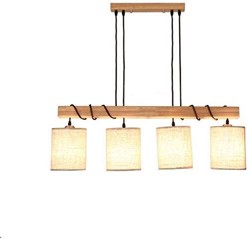 Lámparas de araña Lámparas de techo de madera retro iluminación de pantalla de la lámpara araña de tela de diseño lámpara de araña de comedor del retro barra decorativa lámpara de araña ,Wood color