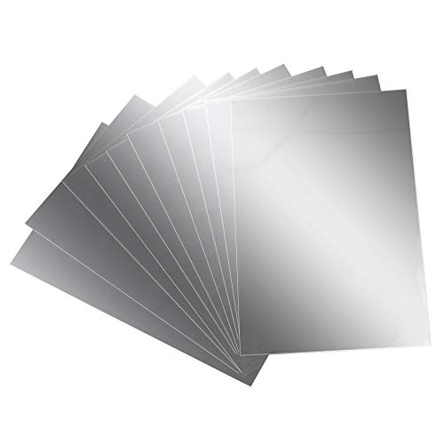 AILANDA Espejos de Pared Autoadhesivo 10 pcs Espejos de plástico láminas Flexibles...