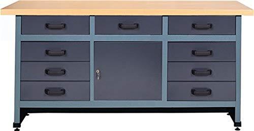 Werkbank B1700xD600xH840mm, aantal laden 9