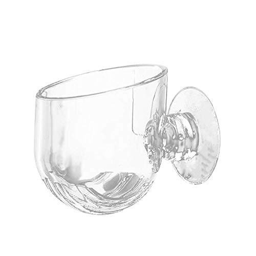 U/K Pulabo - Recipiente de cristal para acuario con diseño de plantas rojas, transparente, elegante y práctico