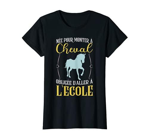 T-shirt cheval pour femme filles cadeau pour cavaliers T-Shirt