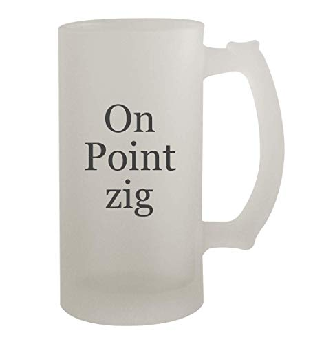 On Point zig - 16oz Frosted Beer Mug Stein, Frosted