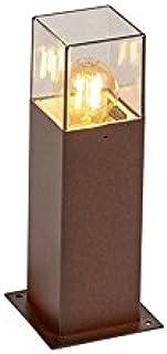 QAZQA Moderno Lámpara de pie industrial de pie 30 cm marrón óxido IP44 - Dinamarca Aluminio/Plástico Cubo/Cuadrada/Rectangular/Alargada Adecuado para LED Max. 1 x 13 Watt