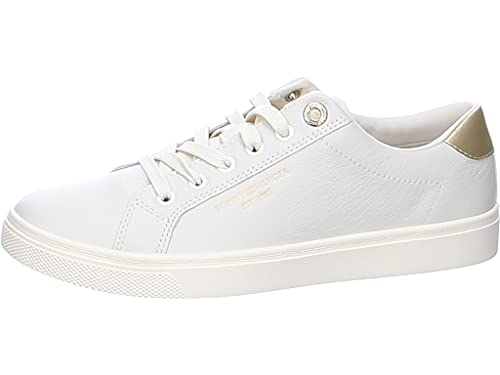 Tommy Hilfiger TH Icon Cupsole Sneaker, Zapatillas Mujer, Paloma Blanca, 37 EU