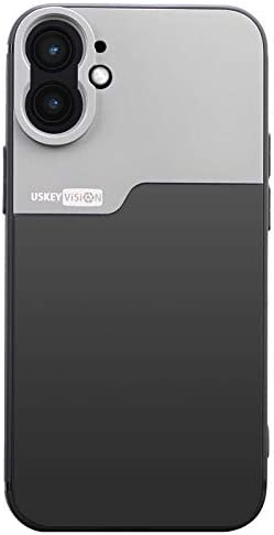USKEYVISION Phone Case for iPhone 12 Mini Support Attached Lens Protective Case Shockproof Cover product image