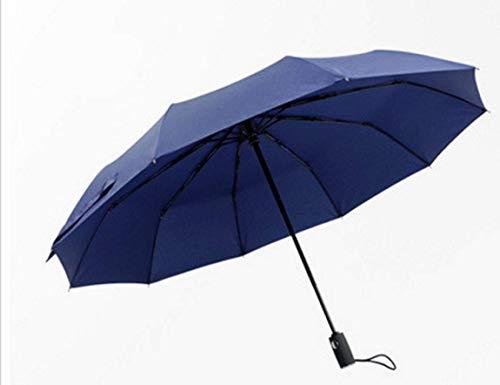 Paraguas xfse Paraguas Paraguas Plegable Paraguas Compacto De Viaje Paraguas Indestructible Automático A Prueba De Viento - Paraguas Rentable Azul
