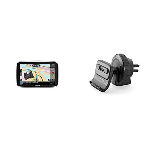 TomTom Navigationsgerät GO Premium (5 Zoll) & Aktiv Lüftungsschlitzhalterung (geeignet für TomTom GO 520/620/5200/6200, GO Professional 520/620/6200/6250, GO Essential 5/6 Zoll, GO Premium 5/6 Zoll)