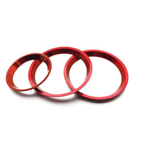 BAWAQAF Ajuste para Subaru XV 2018-2021, anillo de decoración de perilla interna del coche, anillo decorativo del interruptor del botón del aire acondicionado, piezas de automóvil