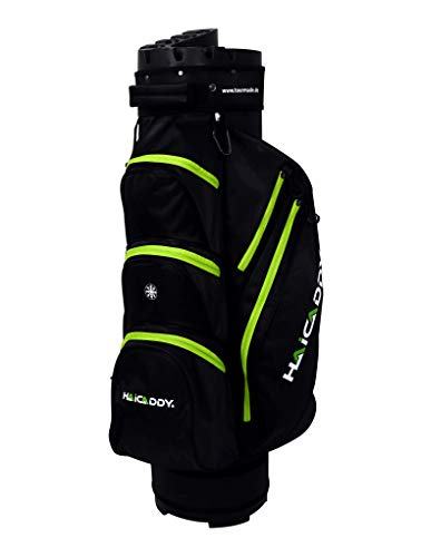 tour-made V2 OG14 Organizer Trolleybag Cart Bag Golftasche Golfbag Modell 2020 (schwarz-Lime-V2)