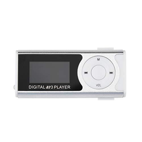 Ba30DEllylelly Mini USB Clip MP3 Media Player Schermo LCD Supporto 16 GB TF LED Light