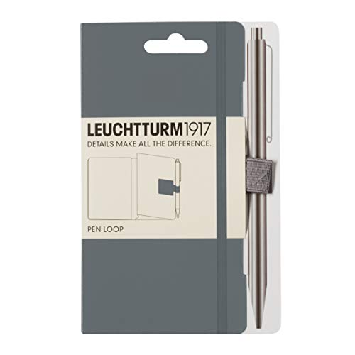 LEUCHTTURM1917 342942 Pen Loop (Stiftschlaufe), selbstklebend, Anthrazit