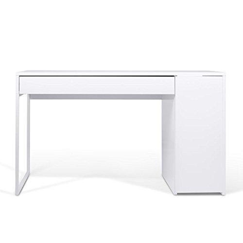 Paris Prix - Temahome - Bureau Prado 130cm Blanc Mat