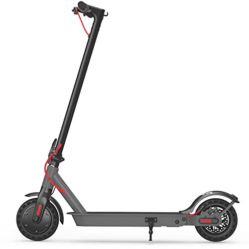 """Hiboy Patinete Eléctrico S2 - Neumáticos sólidos de 8.5"""" - hasta 25 KM de Largo Alcance y 25 KM/H Scooter portátil Plegable para Adultos con Doble Sistema de frenado y aplicación ⭐"""