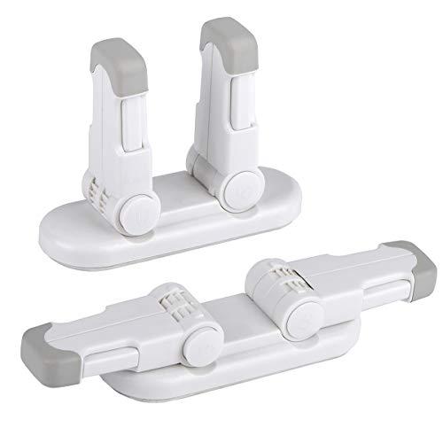 REDTRON Universal Kindersicherung für Türen, 2 pack Kinder Türhebelschloss mit 3M Klebstoff, Baby Sicherheit Türgriffschloss[Verbessert]