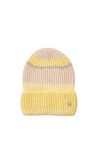 Esprit Accessoires dames 129EA1P002 gebreide muts, geel (Dusty Yellow 765), One Size (fabrikantmaat: 1SIZE)