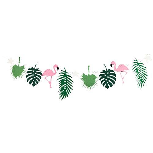 Se Sentía Party Bunting Banner Tropical Hawaii Decoración De Hojas De Apoyo Flamenca Guirnaldas Foto Decoración del Partido Fiesta De Cumpleaños