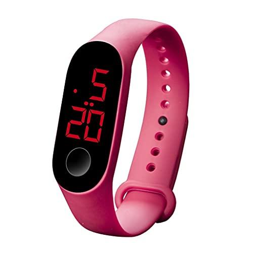 SKTE Relojes LED Electrónicos Deportivos con Sensor Luminoso, Relojes De Moda para Hombres Y Mujeres, Reloj De Vestir, Reloj Digital, Regalo De Moda, Reloj para Hombres (Color : I)