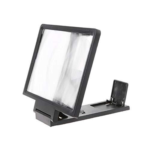 KONGZIR Pantalla 3D amplificador del soporte del teléfono móvil de la lupa de alta definición for vídeo de pantalla plegable ampliada Ojos Protección titular 50PB (Color : Black)