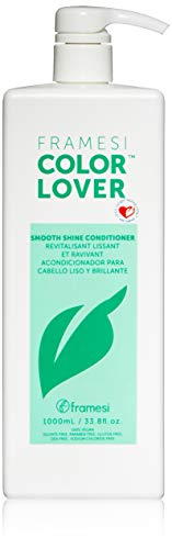 Framesi Color Lover Smooth Shine Conditioner, Sulfate Free Conditioner, Color Treated Hair, 33.8 fl oz
