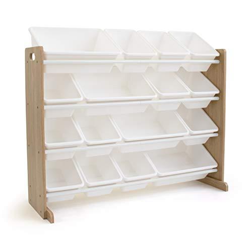 Humble Crew Extra-Large Toy Organizer  16 Storage Bins  Universal  Natural/White