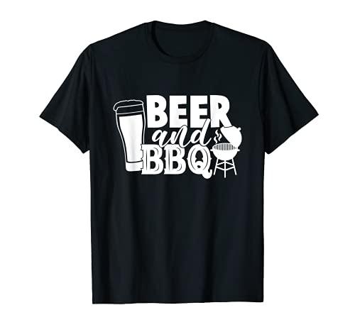 BBQ et bière. La meilleure combinaison estivale. Bière T-Shirt