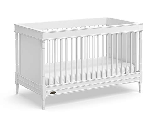Graco Ashleigh 3-in-1 Convertible Crib (White) - Easily Converts to Toddler Bed and Daybed, 3-Position Adjustable Mattress Height