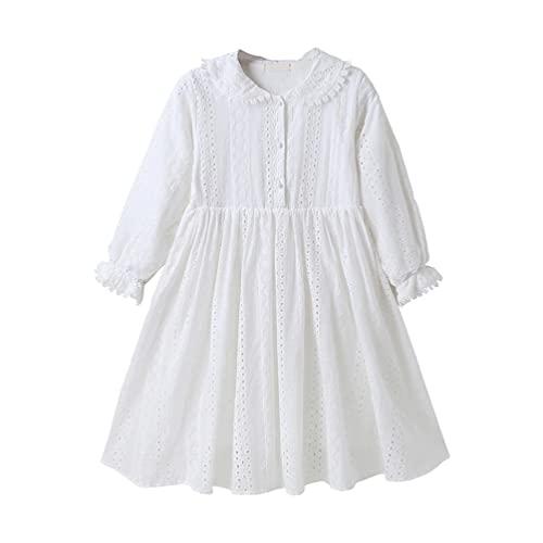 SOIMISS Vestido de Manga Longa de Algodão Vestido de Uma Peça- Vestido