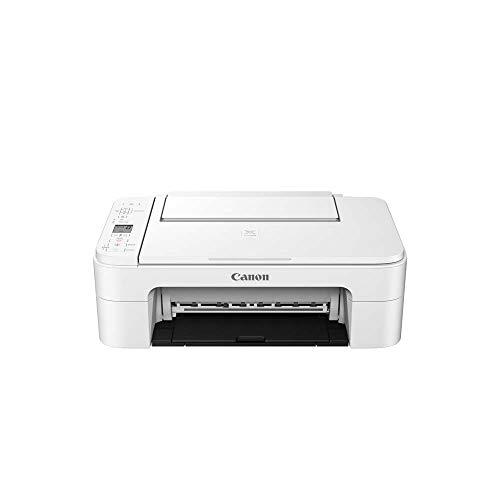 Canon PIXMA TS3351 Farbtintenstrahl-Multifunktionsgerät (Drucken, Scannen, Kopieren, 3, 8 cm LCD Anzeige, WLAN, Print App, 4.800 x 1.200 Dpi) weiß