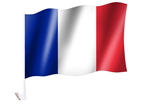 Sportfanshop24 2 Stück/1 Paar Autoflagge/Autofahne Frankreich/France - Fahne/Flagge für Auto 2X - car Flag