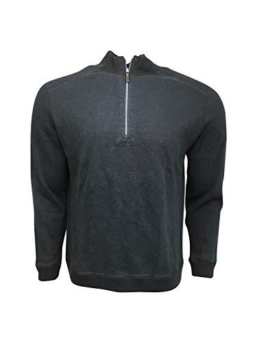 토미 바하마 남자 1 | 2 ZIP 스웨터 100% 코튼 플립사이드 클래식 하프 지프