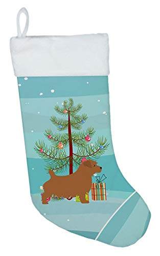 Carolines Treasures Norfolk Terrier Merry Tree Weihnachtsstrümpfe, Mehrfarbig