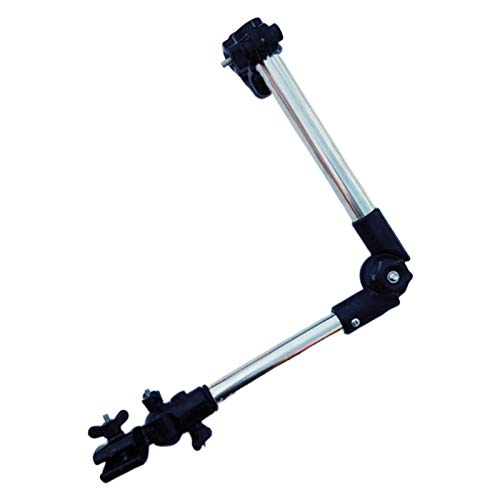Schirmhalter Regenschirm Halterung Verstellbar,Ausziehbarer Schirmständer Rollator Teleskopisch Schirmständer für Fahrrad/Rollstuhl/Kinderwagen/Angeln/Rollator Rollstuhl Golf Trolleys (Teleskopisch)